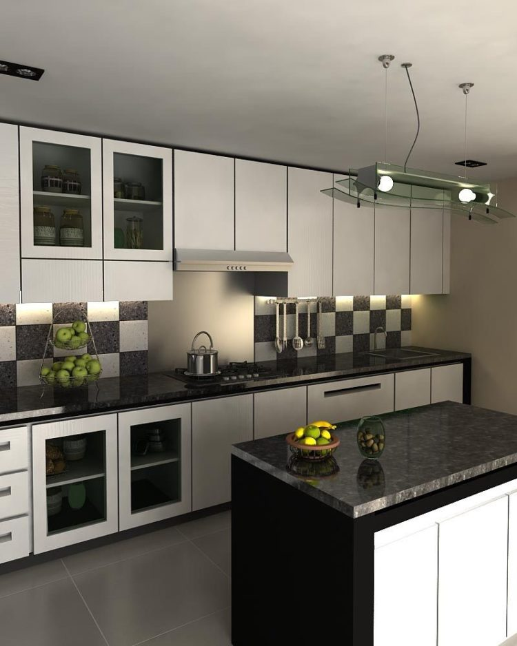 kitchen set hitam