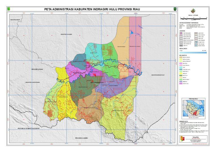 Lokasi Kesultanan Indragiri dalam peta