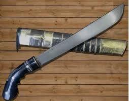 gambar golok ujung turun senjata tradisional betawi