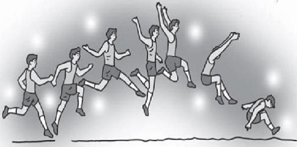 Gambar Gaya Menggantung dalam Pengertian Lompat Jauh