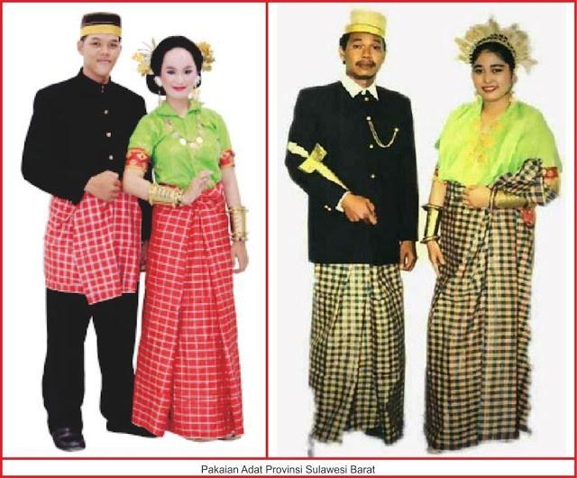 gambar jenis-jenis pakaian adat sulawesi barat
